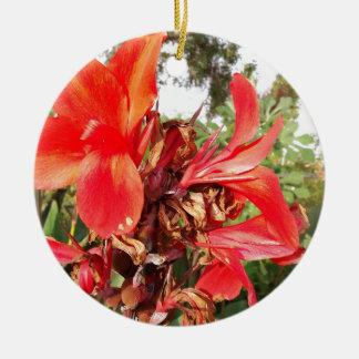 orange Blume Keramik Ornament