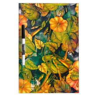 orange Blumen Trockenlöschtafel