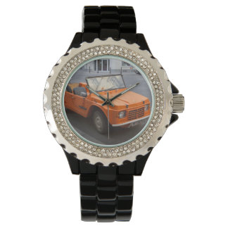 Orange Citroën Mehari Uhr