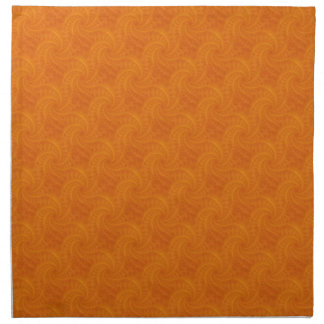Orange Contrail-Spiralen-Servietten Stoffserviette