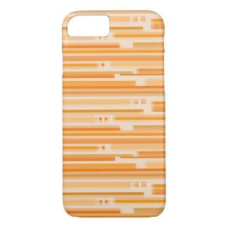 Orange Creme Stripes iPhone 7 Kasten iPhone 8/7 Hülle