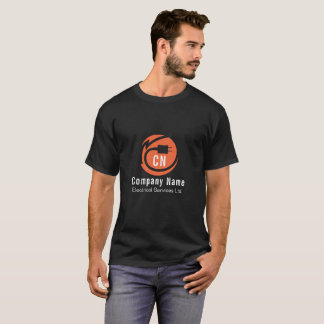 Orange Elektrikerlogoentwurf T-Shirt