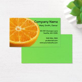 Orange Frucht-halbe Scheibe Visitenkarte