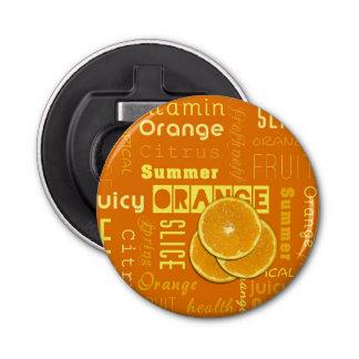Orange Frucht schneidet Typo - Flaschen-Öffner Flaschenöffner