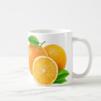 Orange Früchte Tasse