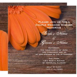 Orange Gänseblümchen-und Karte