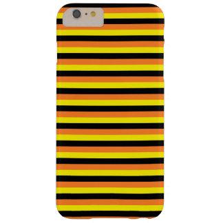 Orange, gelbe und schwarze Streifen Barely There iPhone 6 Plus Hülle