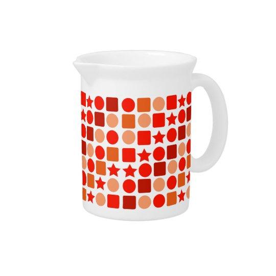 Orange Geometrics auf Getränk-Krug Krug