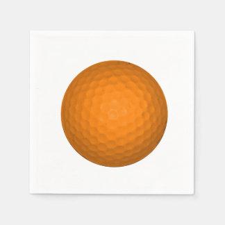 Orange Golfball Servietten