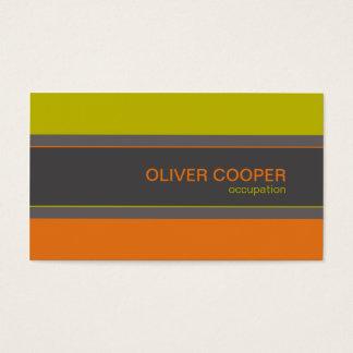 Orange Grün moderne der Visitenkarte Retro Farb