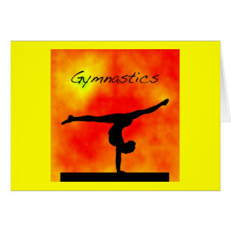 Orange Gymnastik-Gruß-Karte Karte