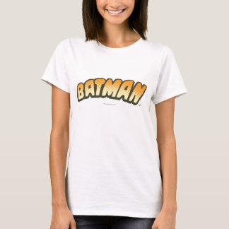 Orange Halbtonlogo Batmans | T-Shirt