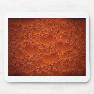 Orange Herzen Mauspads