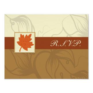 orange Hochzeit im Herbsts-uAwgkarten Karte