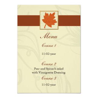 orange Hochzeit im Herbstsmenü Karte