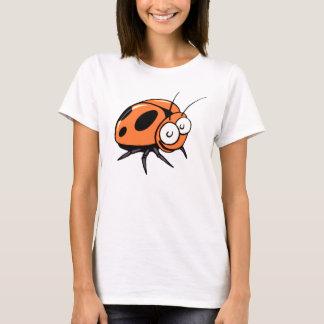 Orange Insekten-Käfer-Cartoon - Damen-T - Shirt