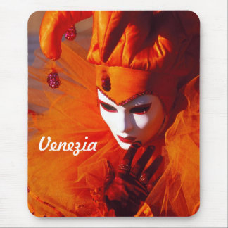Orange Karnevals-Kostüm - Venedig, Italien (IT) Mauspads