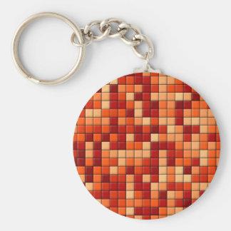 Orange Karos Schlüsselanhänger