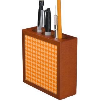 Orange Kombinations-Diamant-Muster durch STaylor Stifthalter