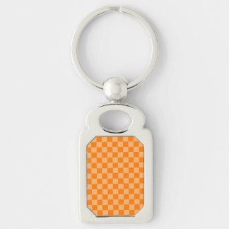 Orange Kombinations-Schachbrett durch Shirley Schlüsselanhänger
