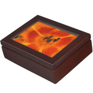 Orange Lilie Erinnerungsboxen