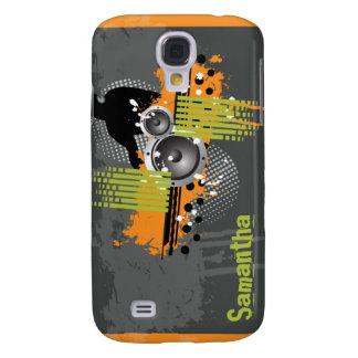 Orange moderner Schmutz DJ Galaxy S4 Hülle