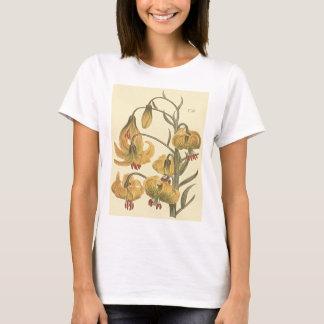 Orange Pompone Lilien-botanische Illustration T-Shirt