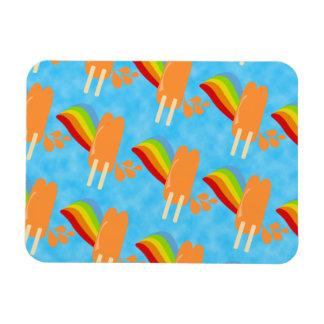 Orange Pop-Retro Regenbogen Magnet