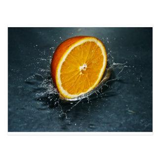 Orange Postkarte