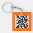 Orange QR CODE kundenspezifische Schlüsselkette Schlüsselanhänger