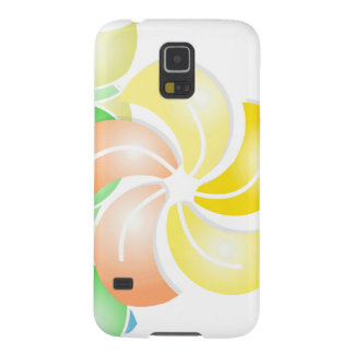 orange rectangle .gif flower galaxy s5 cover