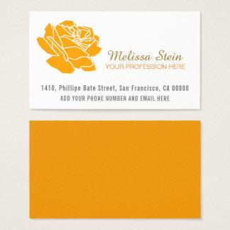 orange Rosen-Blume Visitenkarten