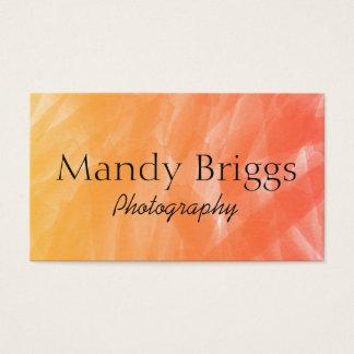 Orange Rot-Aquarell-Malerei-Fotografie Visitenkarten