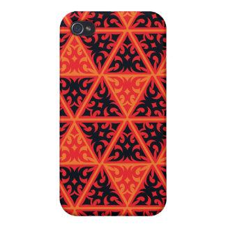 orange schwarze rote Dreiecke Hülle Fürs iPhone 4