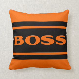 Orange schwarzes Rennen Stripes Kissen
