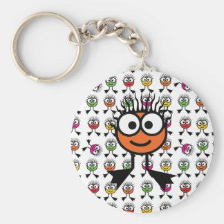 Orange Schwimmen-Charakter-Schlüsselring Standard Runder Schlüsselanhänger