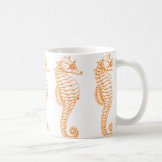 Orange Seepferd Tasse