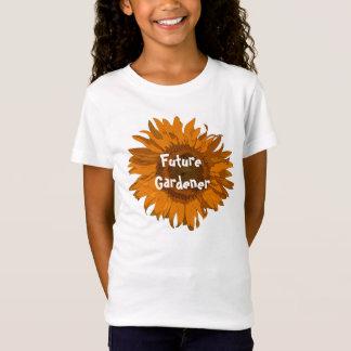 Orange Sonnenblume-Zukunft-Gärtner T-Shirt