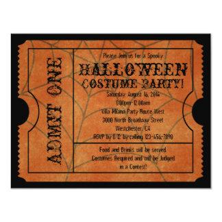 Orange Spinnen-Netz-Vintage Halloween-Karte 10,8 X 14 Cm Einladungskarte