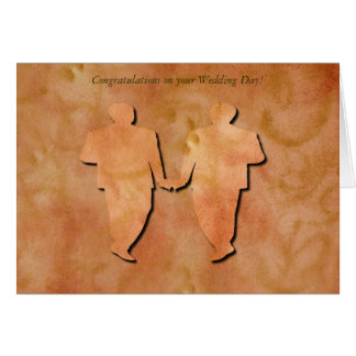 Orange Strudel-homosexuelle Hochzeits-Karte Karte