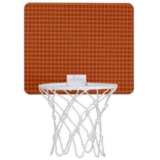 Orange Tartan-Minibasketball-Ziel Mini Basketball Ringe