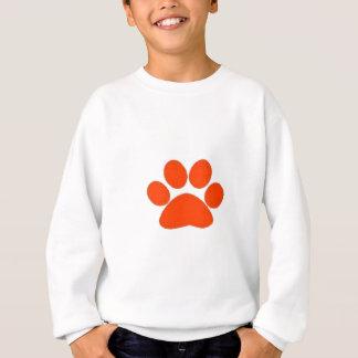 Orange Tatzendruckkleid und -mehr! Sweatshirt
