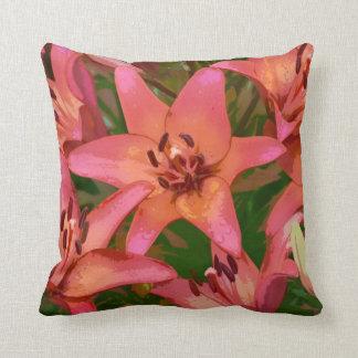 Orange Tigerlilien-Blumendruck-Wurfskissen Kissen