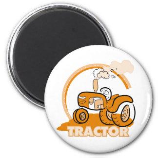 Orange Traktor-T-Shirts und Geschenke Magnets