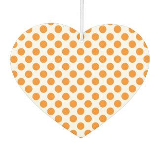 Orange Tupfen Autolufterfrischer