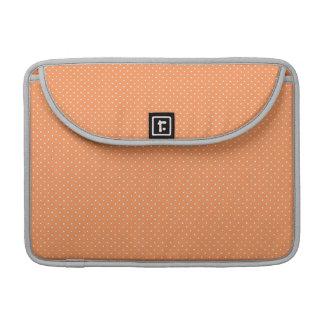 Orange Tupfenspaßmuster Macbook Prohülse Sleeves Für MacBook Pro