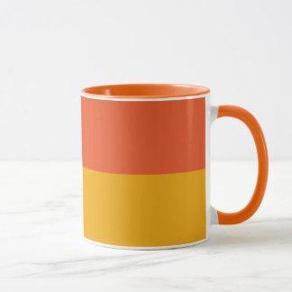 Orange u. gelbe Decaf-Kaffee-Tasse Tasse