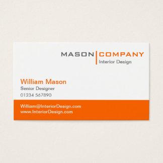 Orange u. weiße UnternehmensVisitenkarte Visitenkarten