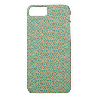 Orange und aquamarines Ikat Muster - iPhone 7 Fall iPhone 8/7 Hülle