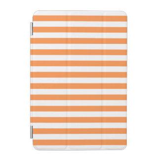 Orange und weißes Streifen-Muster iPad Mini Hülle